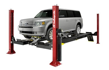 Challenger Four Post Open Front Car Lift 4015EFO 15,000 LB. Capacity